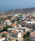 Village of Pissouri and the sea